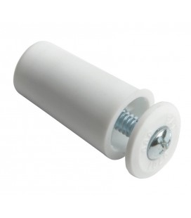 TOPE PERSIANA 40MM BLANCO C/TORNILLO INOX C00000012