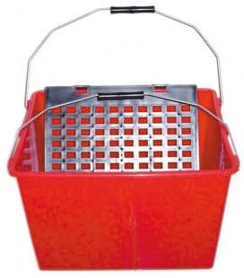 CUBETA DOS ASAS 16L 6909 C/REJILLA PLASTICA