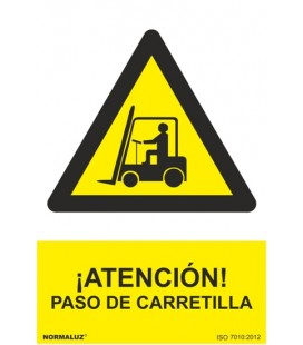 PELIGRO ATENCION PASO DE CARRETILLA RD30006