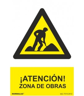 PELIGRO ATENCION ZONA DE OBRAS RD30024
