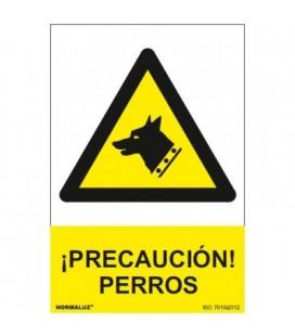 SEÑAL PRECAUCION PERROS 20.4X29.3 RD30043