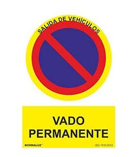 SEÑAL VADO PERMANENTE 21X30( PVC) RD40048