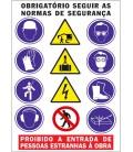 SEÑAL MULTIPLE 1028 OBRAS (PORTUGUÉS)VERTICAL 70X100