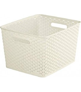CESTA MULTIUSOS 25L MY STYLE RATTAN BLANCO VINTAGE KETTER