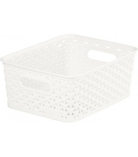CESTA MULTIUSOS 08L MY STYLE RATTAN BLANCO VINTAGE KETTER