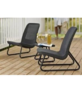 SET PATIO MARRON 211426 MESA Y 2 SILLONES KETTER