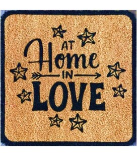 "FELPUDO COCO NATURAL""HOME IN LOVE"" 48x48. 55321"