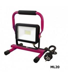 PROYECTOR LED ML20 20W CON SOPORTE FAHERMA