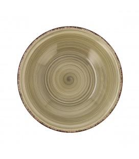 PLATO HONDO GRES 21,5 CM GRIS AQUA VITA QD 7407090