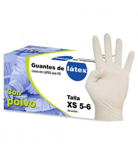 GUANTES DESECHABLES BL. 10UD T-L EXA-10 LATEX