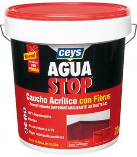 AGUASTOP CAUCHO FIBRAS GRIS 5 KG 903303